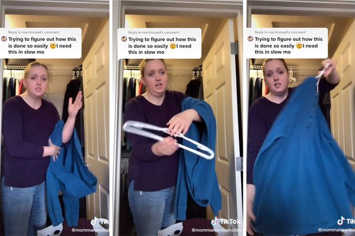Tiktok How to Hang up Clothes Hack