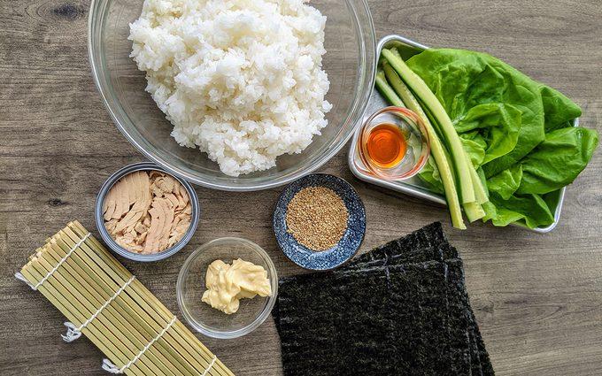 Tuna Salad Maki Ingredients Canned tuna sushi recipe
