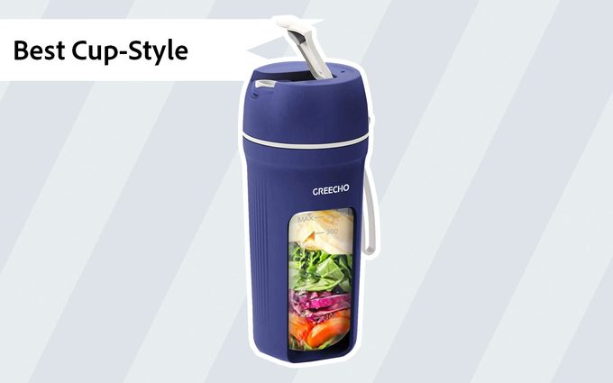 portable blender Greecho Portable One Handed Smoothies Rechargeable