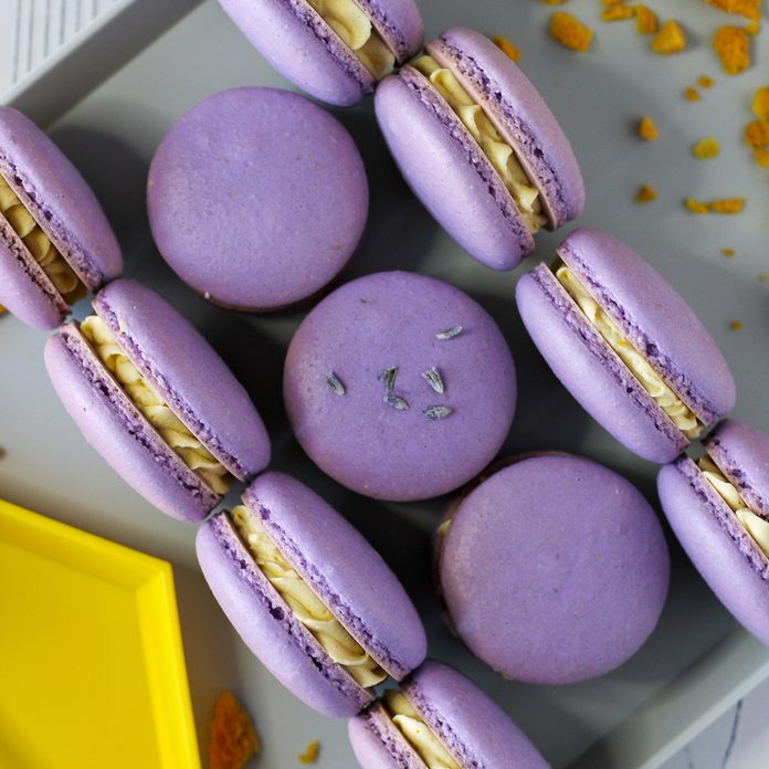 LAVENDER AND HONEY MACARONS