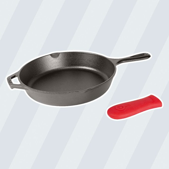 best cast iron skillet Lodge Skillet Pre Seasoned 10 25 Inch Silicone