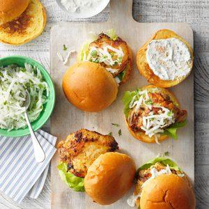 Tandoori Masala Chicken Sandwiches