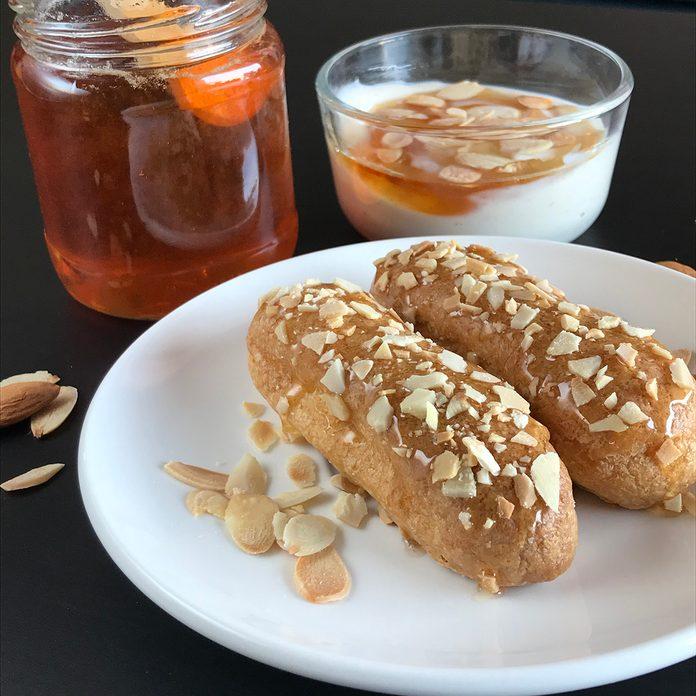 Vegan Honey And Yogurt Eclairs