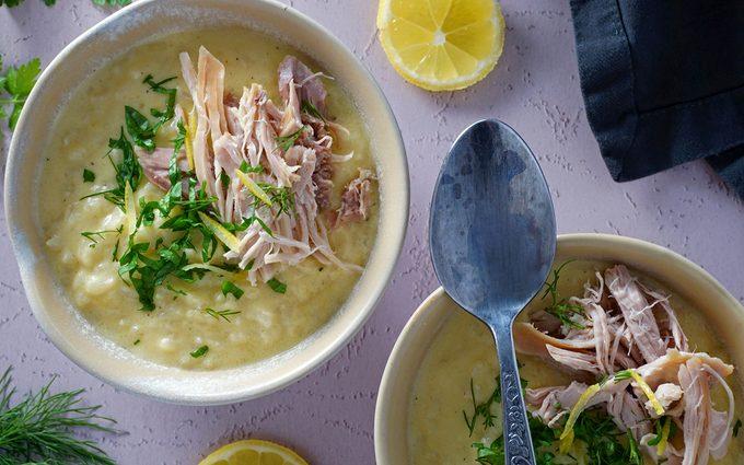 Serve avgolemono soup recipe