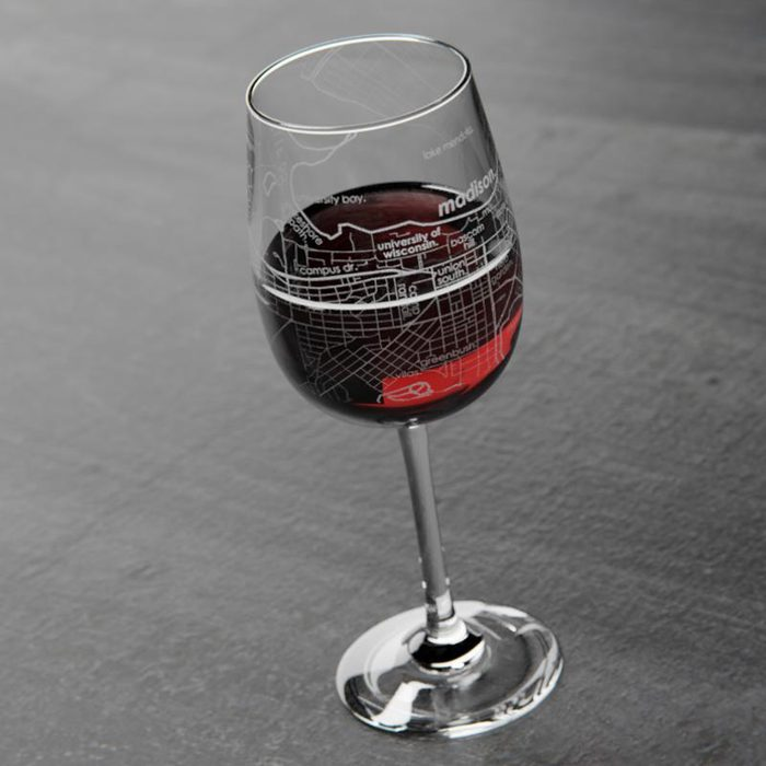 college graduation gifts College Town Maps Wine Glass