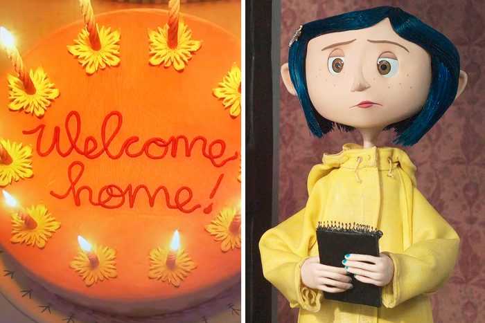 Coraline Welcom Home Cake Tiktok