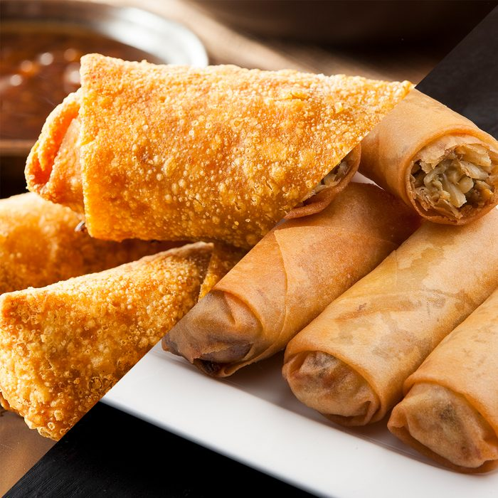Eggroll Vs Springroll Square Gettyimages 187138377 Gettyimages 183708904