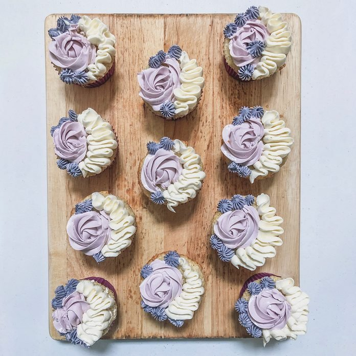 Light and Fluffy Lavender Cupcakes