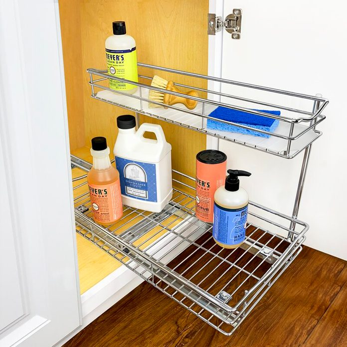home organization Lynk Professional Slide Out Under Sink 115 X 18 Pull Out Drawer