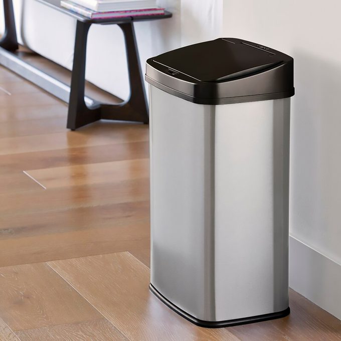 Stainless Steel 13.2 Gallon Motion Sensor Trash Can