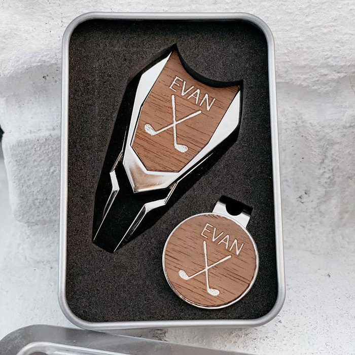 custom fathers day gift Personalized Divot Tool Set Ball Marker