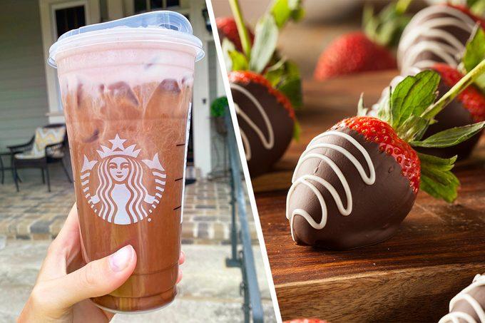 Starbucks Chocolate Strawberry Cold Brew from the secret menu