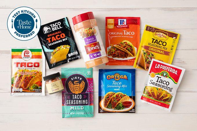 Taco Seasonings In Packages For Taste Test