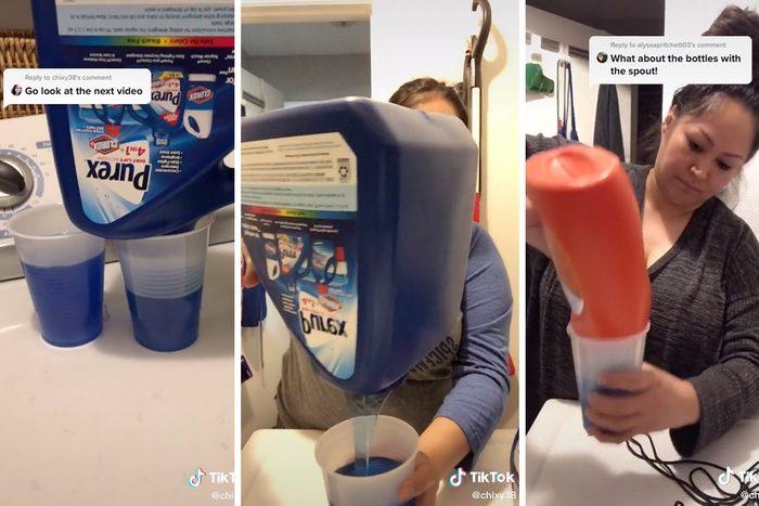 Tiktok Laundry Detergent Bottles Hack