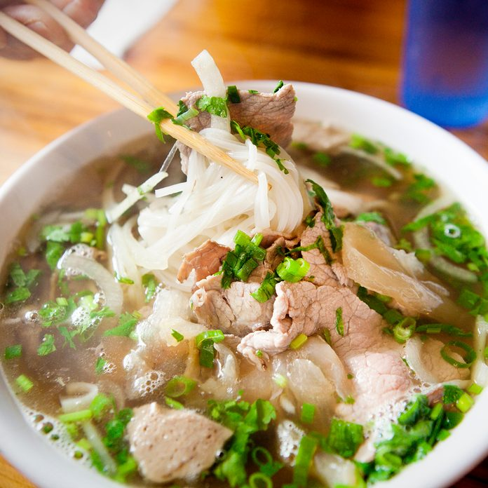 Vietnamese Pho Noodle Soup Dish