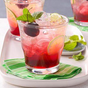 Cherry-Lime Shrub