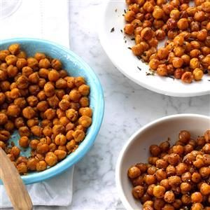 Chili-Lime Air-Fried Chickpeas