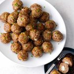 Fig and Goat Cheese Air-Fried Meatballs