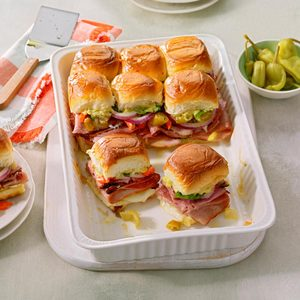 Hot Italian Party Sandwiches
