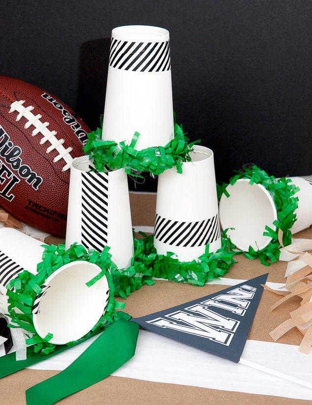 Football Birthday Party Ideas Mini Megaphone Diy 4