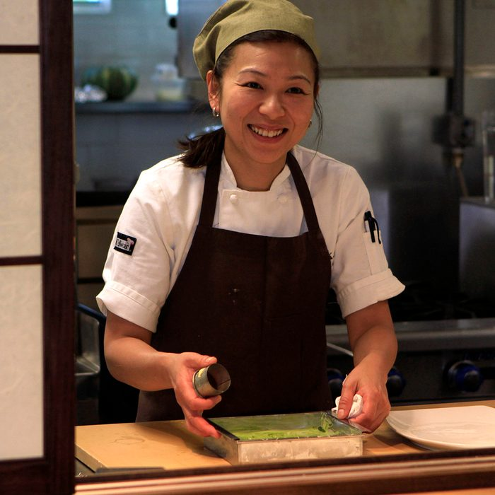 Chef Niki Nakayama Was In The Kitchen At N/naka In Los Angeles On May 31, 2012. The Restaurant Is A