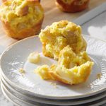 Pear, Ricotta and Rosemary Corn Muffins