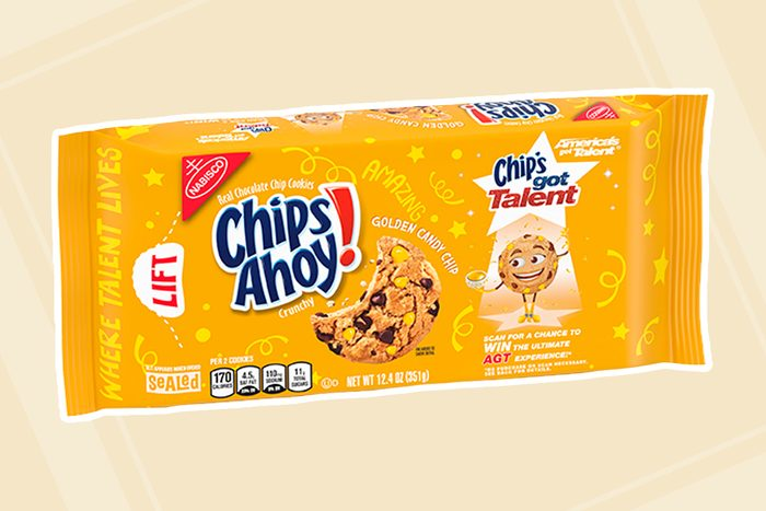 CHIPS AHOY! Golden Candy Chip Chocolate Chip Cookies, America's Got Talent Edition, 12.4 oz