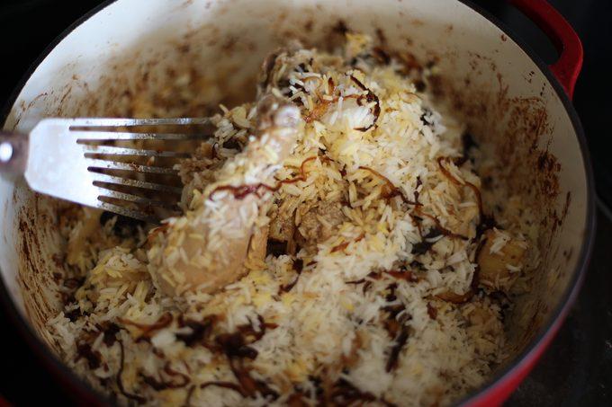 Finished Biryani How to make biryani