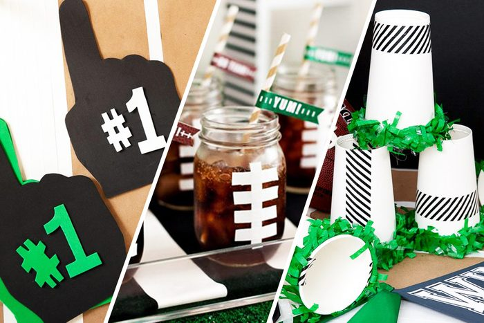 Football Party ideas Collage