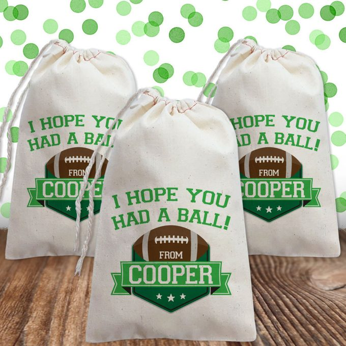 Football Birthday Party Ideas Football Party Favor Bags Personalized