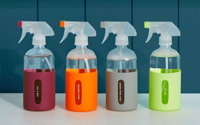 Grove Co Reusable Cleaning Glass Spray Bottle With Silicone Sleeve