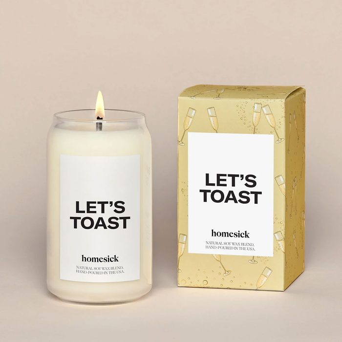 Lets Toast Candle college graduation gifts