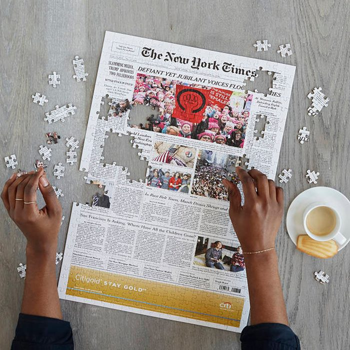 college graduation gifts New York Times Custom Front Page Puzzle