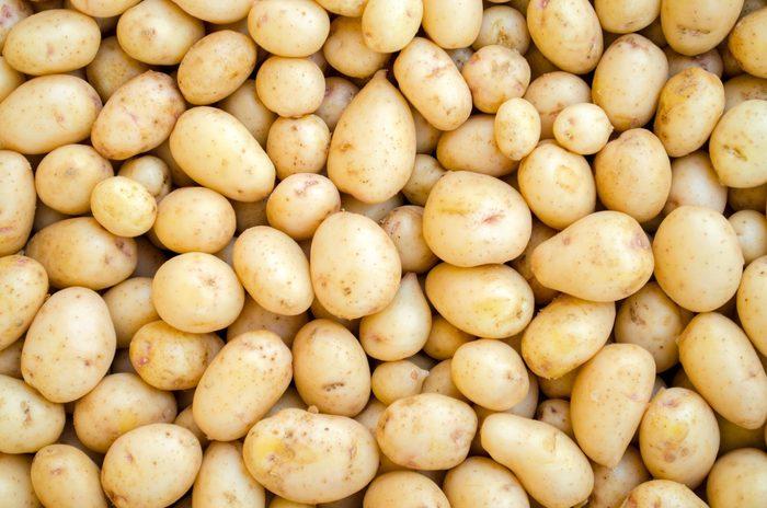 Potatoes White Washed And Fresh