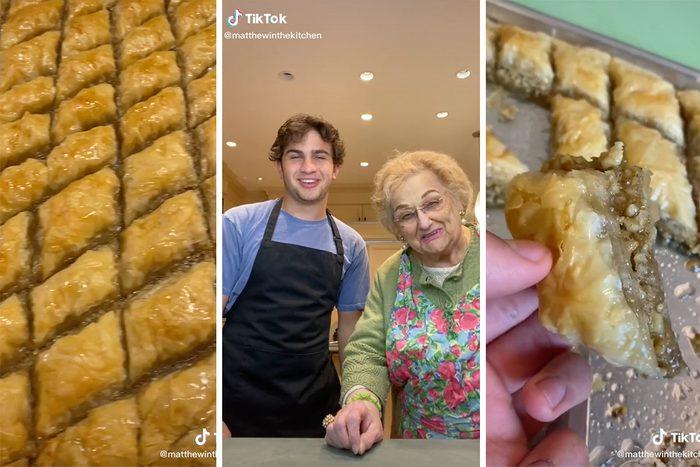 Matthew Merril Explaining How to Make Baklava