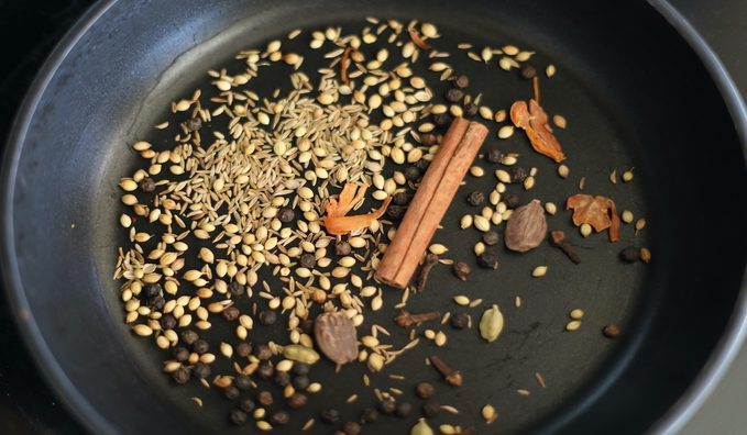 Toasting Spices How to make biryani