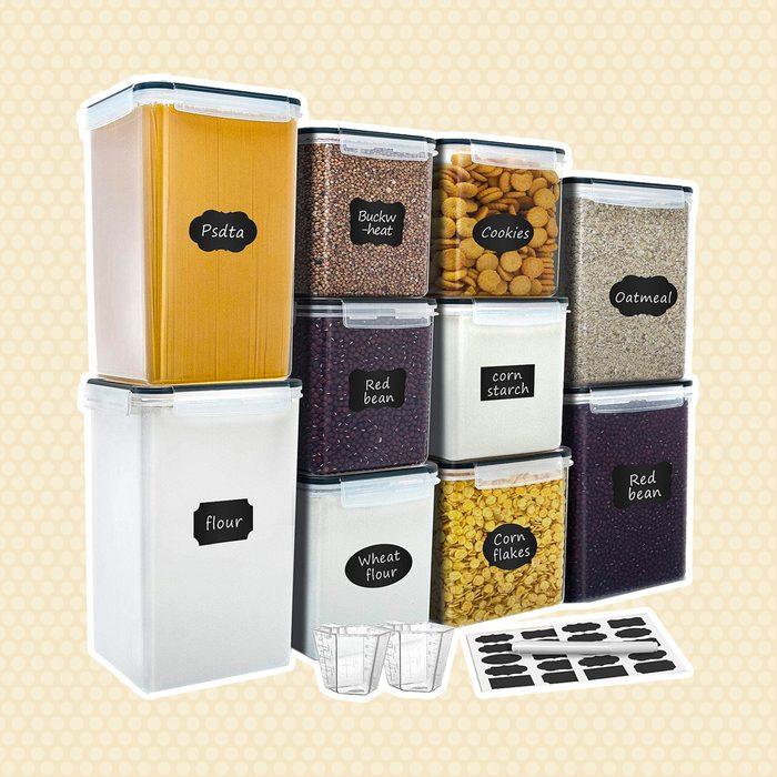 amazon kitchen storage Airtight Storage Containers Verones Organization