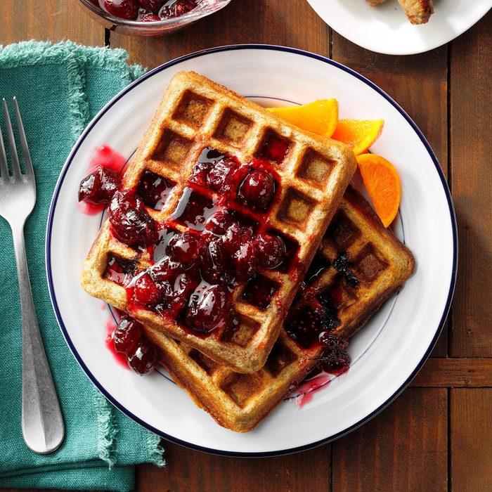 Cranberry-Walnut Belgian Waffles