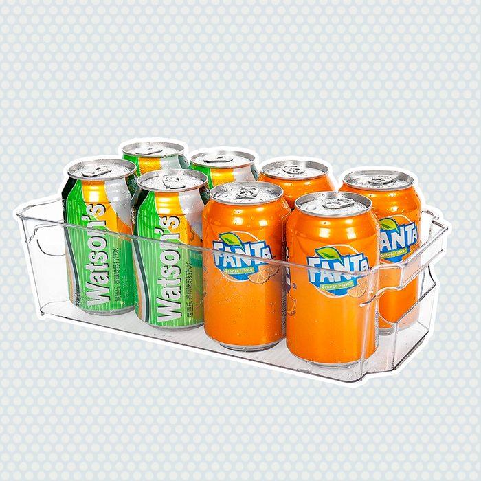 amazon kitchen storage Hoojo Refrigerator Organizer Bins Organization