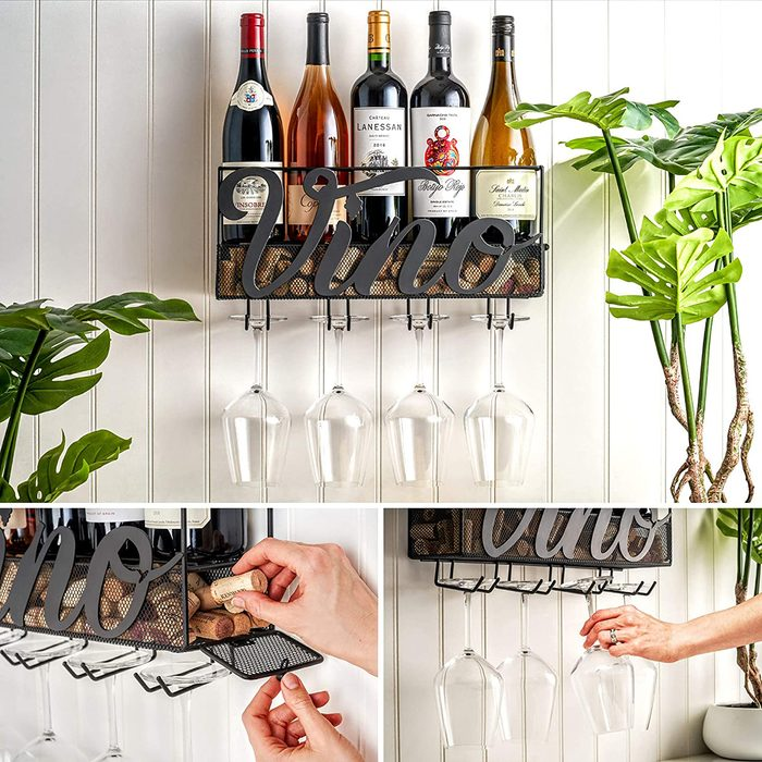 engagement party gifts Mkz Products Mounted Hanging Stemware
