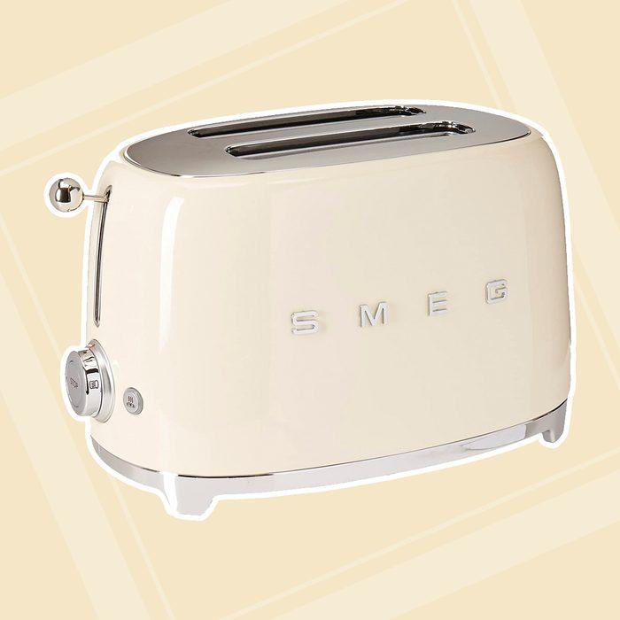 Smeg Tsf01crus Retro Aesthetic Toaster