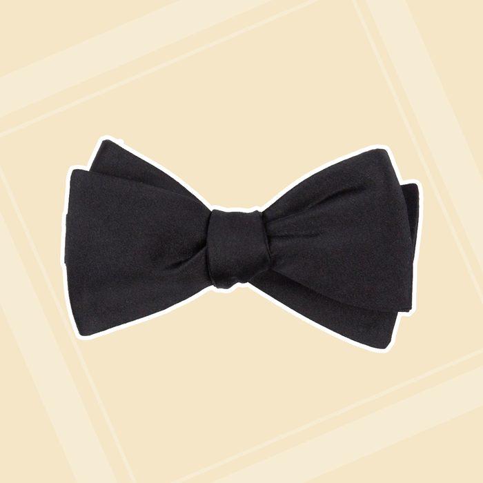 groomsmen gifts Solid Satin Black Bow Tie