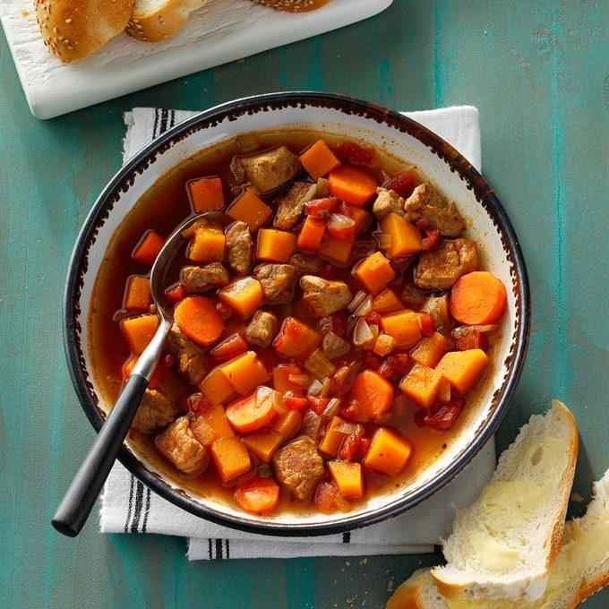 Southwestern Pork & Squash Soup