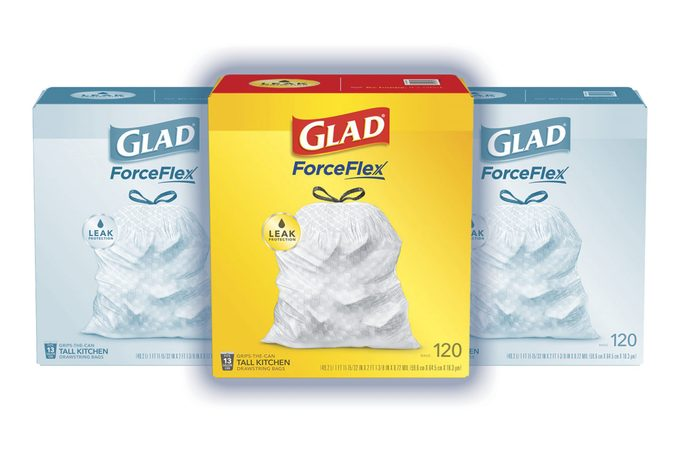 Glad ForceFlex Tall Kitchen Trash Bags, 13 Gallon, 120 Count, Unscented