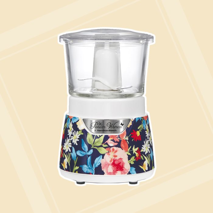 kitchen items for wedding registry The Pioneer Woman Fiona Floral Stack Press Glass Bowl Food Chopper 3 Cup