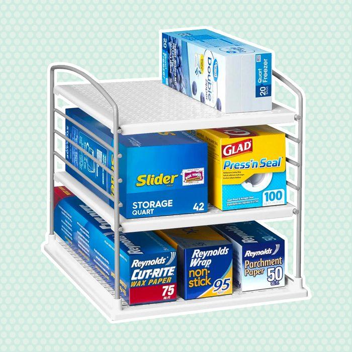 amazon kitchen storage Youcopia Adjustable Bathroom Organizer
