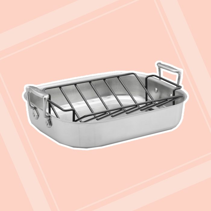 kitchen items for wedding registry All Clad Stainless Steel Roasting Pans With Rack