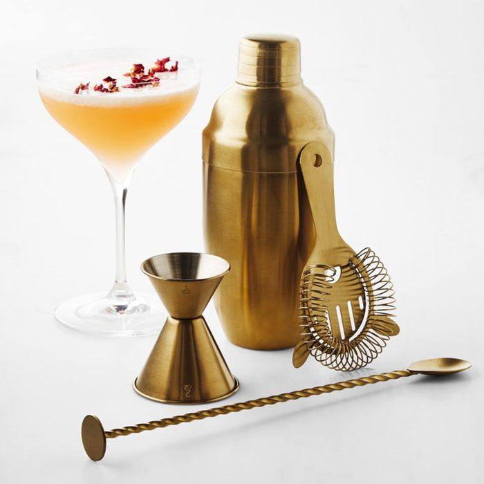 classic wedding gifts Antique Brass Bar Tools Set