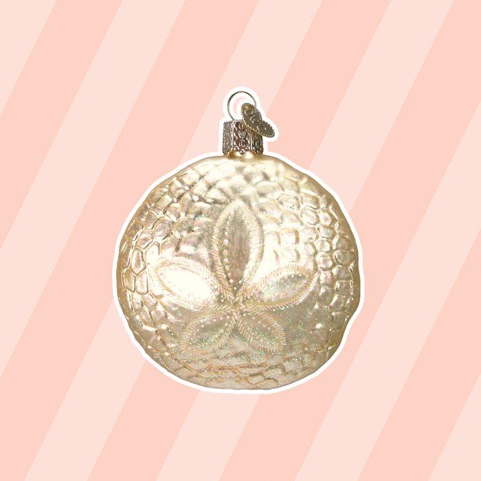 beach christmas decor Beachcrest Home Sand Dollar Ball Ornament
