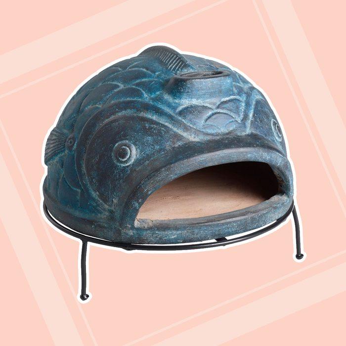 world market patio Blue Fish Terracotta Pizza Oven